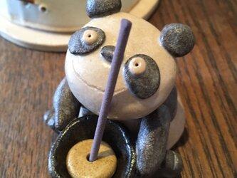 かわいいパンダのお香立て(アクセサリートレイ) パンダ アロマ  の画像