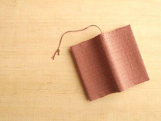 手織りブックカバー(新書)ベージュの画像