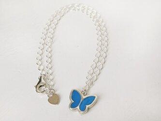 蝶のアンクレット(ターコイズブルー)の画像
