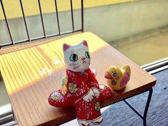 撫子美人❓着物にゃんこシロちゃんの画像