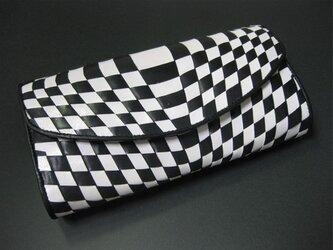 イントレロングウォレット<Black&White> 送料無料☆ラッピング無料☆ 二つ折り財布の画像