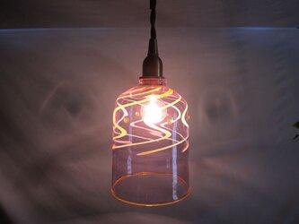 耐熱ガラスのランプシェード 11 パープルラインの画像