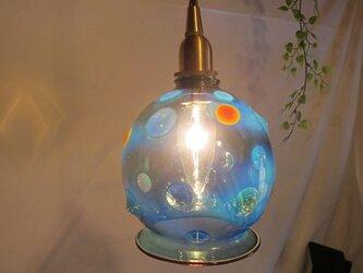 耐熱ガラスのランプシェード 10 ドットの画像