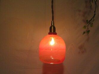 耐熱ガラスランプシェード 7 サーモンレッドの画像