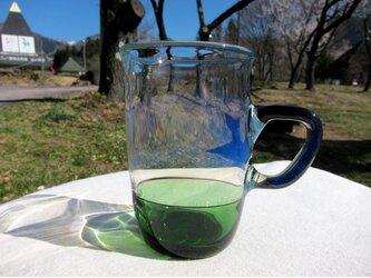 耐熱ガラス マグカップ1 グリーンの画像