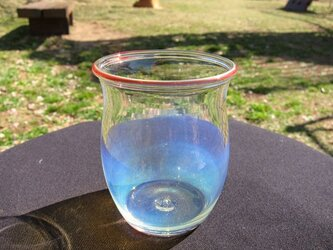 耐熱ガラスカップ3 ミルキーブルー の画像