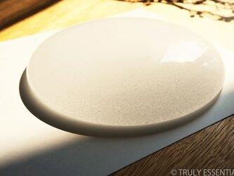 無色透明ガラスのインテリアオブジェ -「 いる・ある・きえる 」 ● 直径約17cmの画像