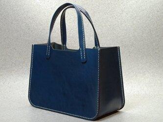 ヌメ革(栃木レザー)ミニトートバッグの画像