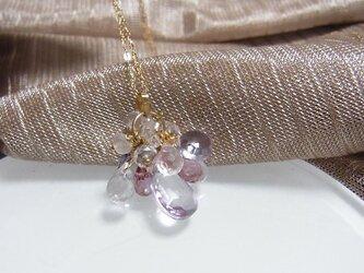 K10  マルチカラー 花籠ネックレスの画像