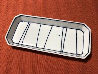 Z253a 磁器染付長皿aの画像