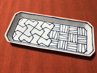 Z253c 磁器染付長皿cの画像