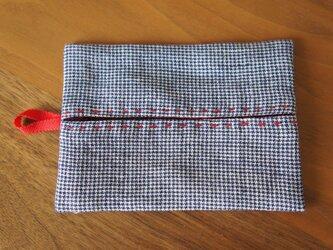 ポッケットティッシュケース  赤×赤の画像