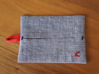 ポッケットティッシュケース  n赤×紺の画像