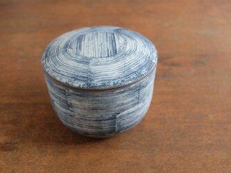 インディゴ 陶おひつ 2合の画像