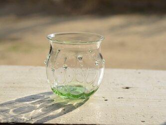 雫のグラス 丸(ミントグリーン)の画像