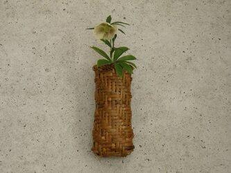 掛け花籠 鉈鞘籠 根曲り竹 煤竹 鳳尾竹 の画像