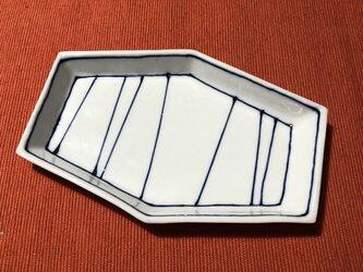 Z251a 磁器染付長皿aの画像