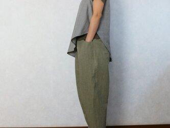 さわやかオリーブグリーン♪ひざ立体パンツの画像