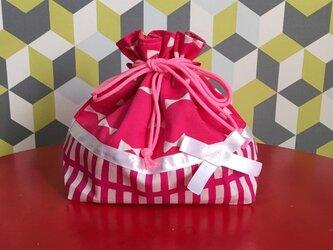 お弁当袋リボン ピンク ♪♪♪の画像