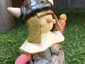 ビッケ 小さなバイキング 陶器 子どもの日 五月人形 五月飾り 端午の節句の画像