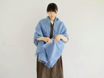 エシカルヘンプ手織りストール 正藍染め縹色 Mの画像
