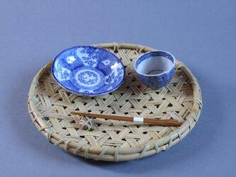 鉄線編み盛り籠(大) 盛り皿 根曲り竹 商品陳列の画像