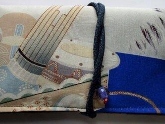 送料無料 男の子のお宮参り着で作った和風財布・ポーチ3395の画像