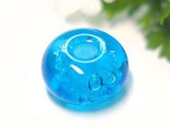 ぶくぶく泡の小さなとんぼ玉 水色の画像