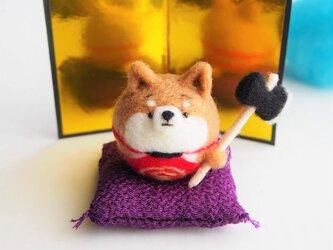 【受注製作】~端午の節句~まゆ柴犬金太郎(赤柴・黒柴・白柴)五月人形お飾りセット 羊毛フェルトの画像