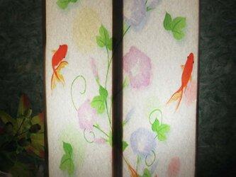 夢明かり≪金魚の散歩≫紙貼・中形・LED 飾りライトの醍醐味を!!の画像