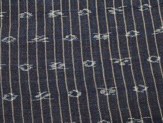 asa0009 絣紋様麻布 50cm 藍染☆古布古裂/木綿/筒描き/型染め/藍染/絹/ボロ襤褸の画像