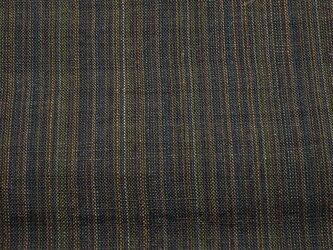 asa0010 縞紋様麻布 100cmカット売り 藍染☆古布古裂/木綿/筒描き/型染め/藍染/絹/ボロ襤褸の画像