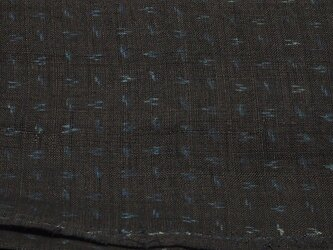 asa0013 絣紋様麻布 50cm 藍染☆古布古裂/木綿/筒描き/型染め/藍染/絹/ボロ襤褸の画像