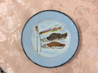 端午の節句の絵皿(S)の画像