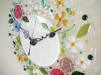 【オーダー制作】壁掛け時計(バレリーナローズ)の画像