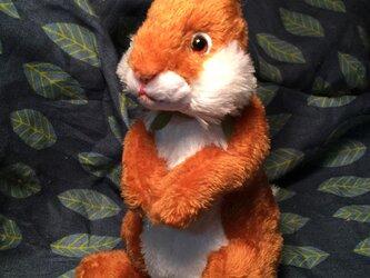 立ち型ウサギ(ブラウン)の画像
