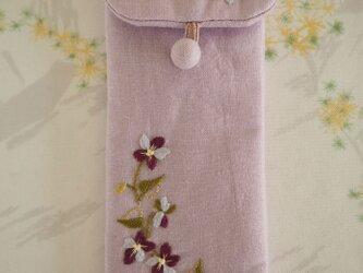 すみれのめがねケース Lilac(Pink)の画像