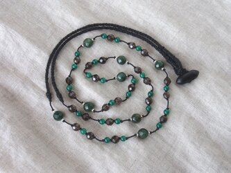 Green×Black Long Necklaceの画像