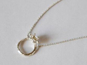 Herkimer diamond baby ring necklace(sv) ハーキマーダイヤモンド★ベビーリング★ネックレスの画像