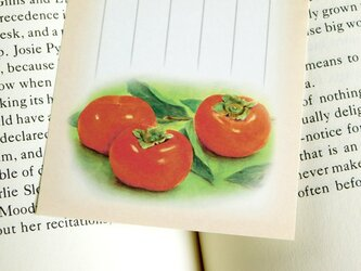 水彩画一筆箋207「柿」25枚の画像