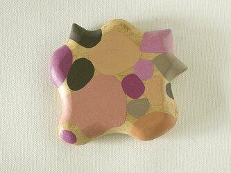 木彫り手鏡 さ・い・ぼ・う(ピンク&グレー)growの画像