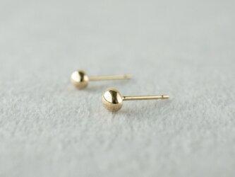 K18 Tsubu earrings / Mirrorの画像