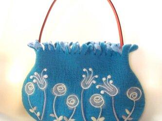 フリフリミニバッグ *ローズガーデン*ブルーの画像