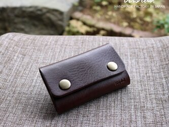 キーケースNEW! ちいさなお財布になるキーケース(ダークブラウン)レザー の画像