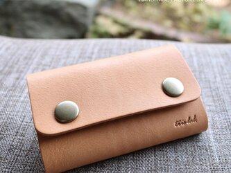 キーケースNEW! ちいさなお財布になるキーケース(ヌメ)レザー の画像