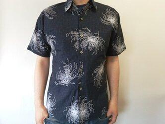 半袖和柄シャツ(糸菊模様)の画像