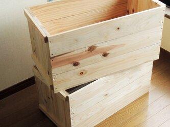 木箱*りんご箱*2個セット*新品*蓋なしの画像