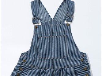 【受注製作】ロングデニムサロペット デニム生地 ジーンズ スカートT1099の画像