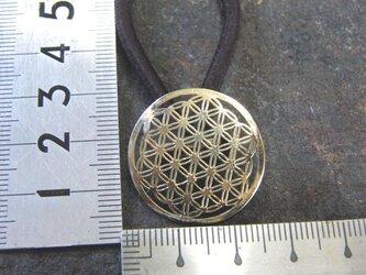 真鍮ブラス製 小紋調和風デザインヘアゴムコンチョ 髪留め・バッグボタン飾り・ペットの首輪飾りにもの画像