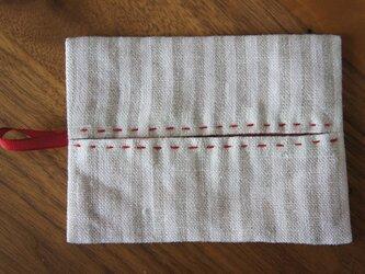 ポッケットティッシュケース  縞ステッチの画像